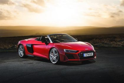 Audi R8 Convertible Spyder Convertible quattro 5.2 FSI V10 620PS Performance Carbon Black 2Dr S Tronic [Start Stop]